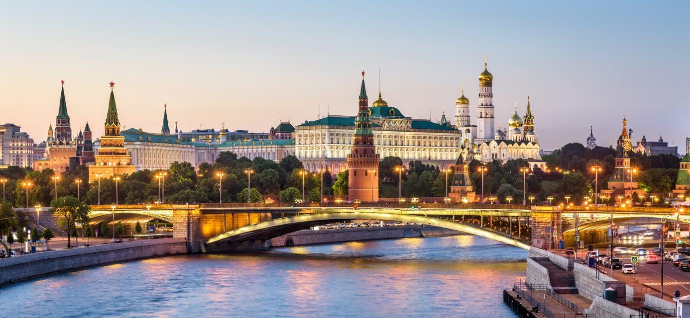 Moscow Kremlin at Moskva River, Russia