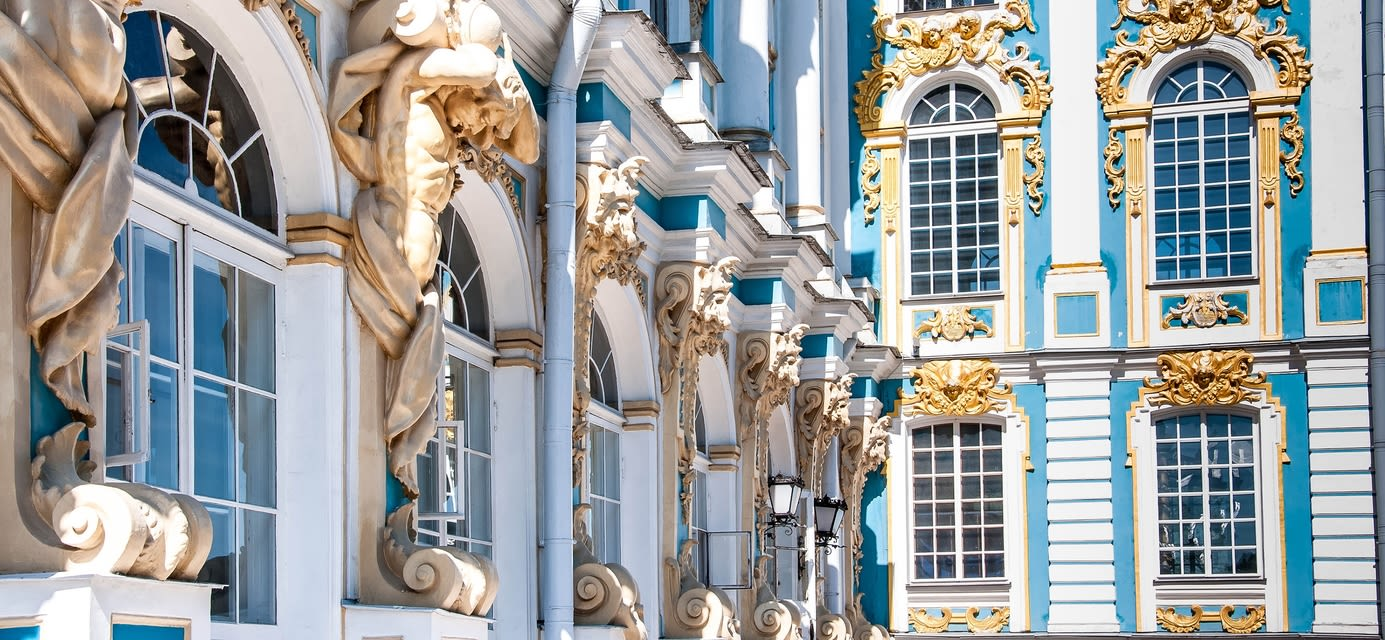 Hermitage Pavillion. Catherine Park, Tsarskoye Selo, St Petersburg, Russia