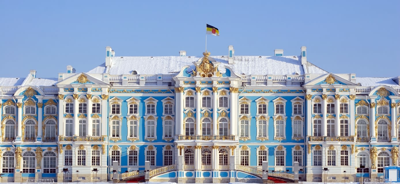 The Catherine Palace, Tsarskoye Selo, Pushkin, Saint-Petersburg, Russia