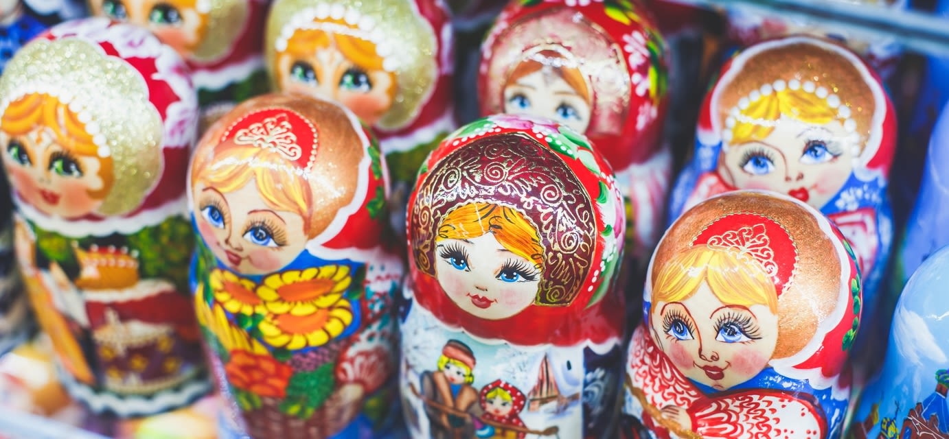 Wooden Nesting Dolls or Russian Matryoshka Dolls for sale in St Petersburg, Russia