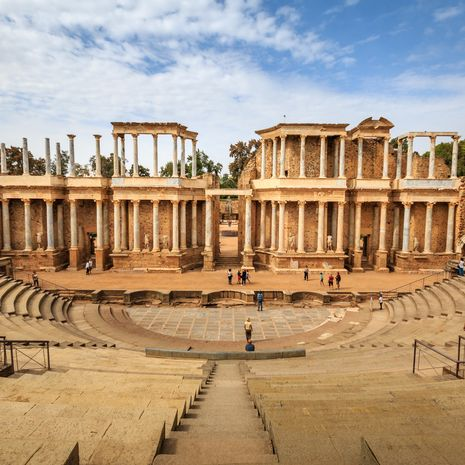 Roman theater in Merida, Spain
