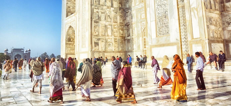 Tourists at the Taj Mahal, Agra, India