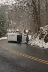 One Injured In Rollover Accident In Snowy Weston