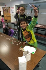 Kids At Trinity School In New Rochelle Create Tower From Straws