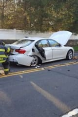 Greenwich Firefighters Extricate Driver From Car Crash