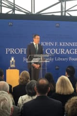 JFK Library Honors Malloy With Profile In Courage Award For Aiding Refugees