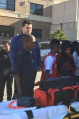 Peekskill Middle School Students Visit With EMS Workers