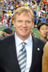 NFL's Roger Goodell Plays Football With Students From Yonkers, Bronxville