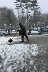 Snow Begins To Pile Up In Fairfield After Storms