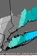 Snowfall Projections Updated With Advisory In Effect For White Plains