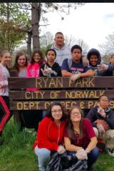 Norwalk Youth Group Joins Police In Cleaning Up Ryan Park