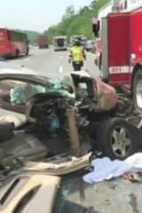 Car Totaled In I-87 Ardsley Crash