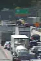 Truck Overturns On I-287, Blocking Two Lanes
