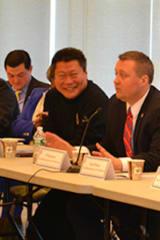 Monroe's Sredzinski Talks Business at Bridgeport Meeting