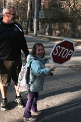 Walking School Bus Arrives In Irvington