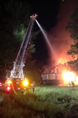 Overnight Fire Destroys Vacant Mansion In Newtown