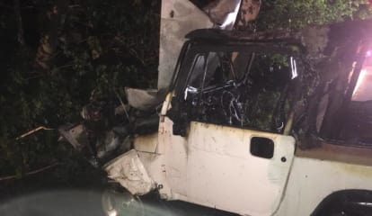 Greenwich Firefighter Respond To Car Accident, Fire