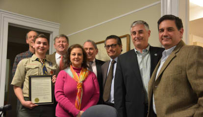 John Jay HS Junior Honored By Lewisboro Town Board For Scouting Work
