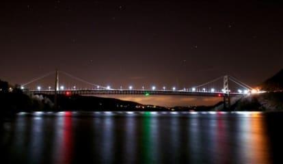 Photo Captures Bear Mountain Bridge Under The Stars In Peekskill