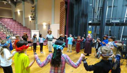 John Jay Middle School Sixth-Graders Partake In Medieval Dancing