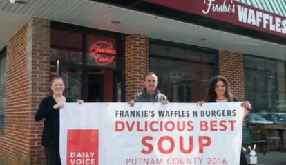 Hooded Bandits Steal DVlicious Contest Winner's Banner From Mahopac Eatery