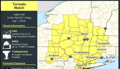 Tornado Watch In Effect For Westchester As Severe Storms Move Through