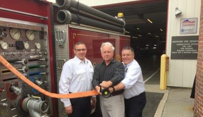 Fairfield Half Marathon Donates Equipment To Westport Fire Department