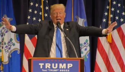 Boisterous Crowd Cheers As Trump Brings Message To Bridgeport