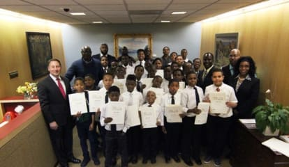 Westchester County Executive Meets With Mt. Vernon 'Boys To Men' Group
