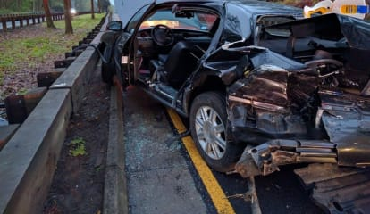 Firefighters Rescue Driver After Merritt Parkway Crash