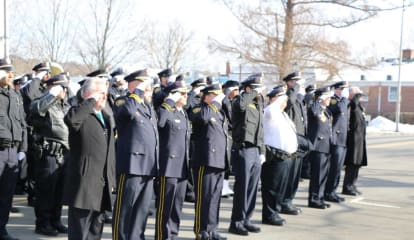 Norwalk Police Officers Pay Final Respects To Lt. Tim Murphy