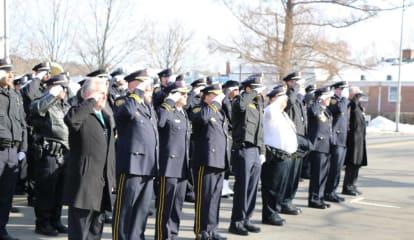 Westport Police Department Joins Final Salute For Norwalk Lieutenant