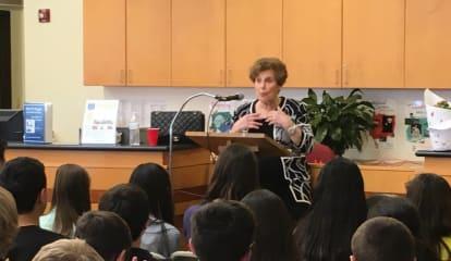 Pelham Middle School Students Welcome Holocaust Survivor.