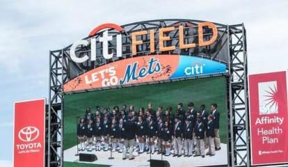 Bronxville Students Sing 'Star Spangled Banner' At Citi Field