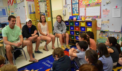 Bronxville Student Athletes Discuss Sportsmanship With Third Graders