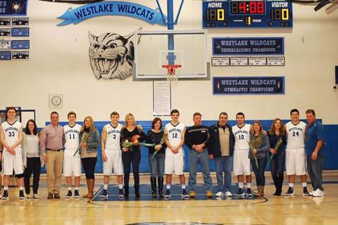 Westlake High Basketball Seniors Honored For Team Contributions