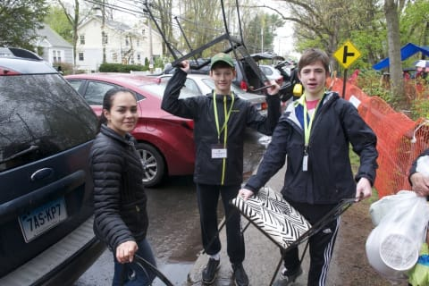 Hundreds Jam Streets For Darien Boy Scouts Giant Tag Sale