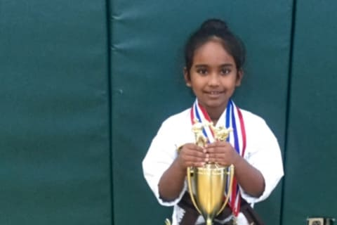 Somers 7-Year-Old Already A Karate Champion