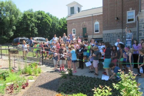 Main Street School Holds Ribbon-Cutting Ceremony For Garden