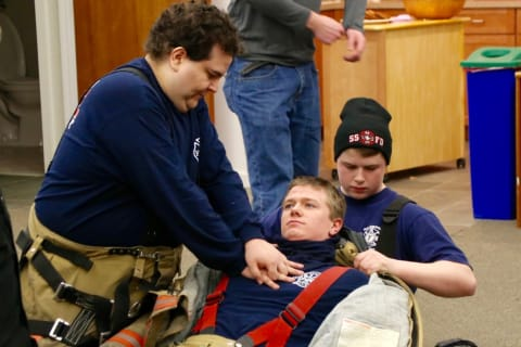 South Salem Firefighters, Lewisboro Ambulance Corps, Hold CPR Drill