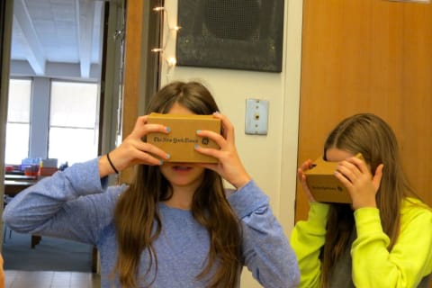 John Jay MS Students Take Virtual-Reality Tour Of Egypt