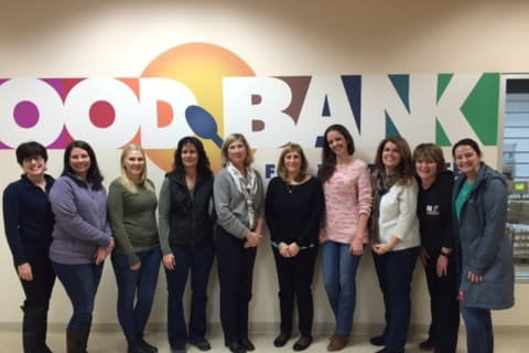 Faculty, Staff From Todd Elementary School Volunteer At Food Bank