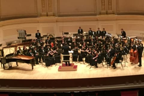Scarsdale High School Wind Ensemble Performs At Carnegie Hall