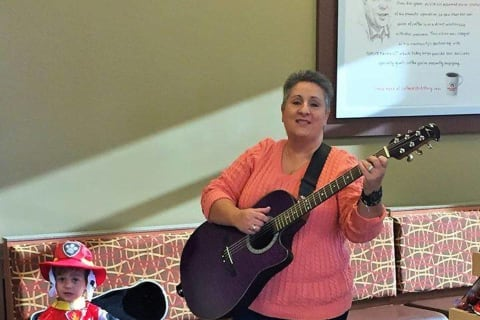 Chick-Fil-A In Brookfield Welcomes Ms. Janine As She Sings And Signs