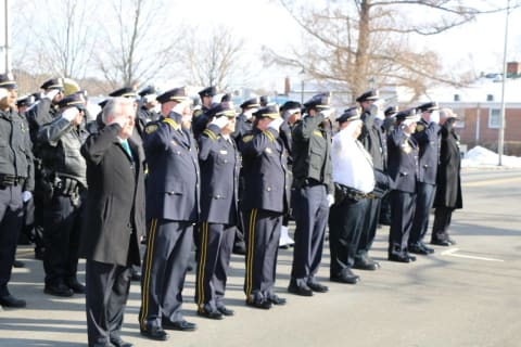 Greenwich Police Department Joins Final Salute For Norwalk Lieutenant