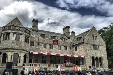 Graduates Step Off For Commencement At Fairfield University