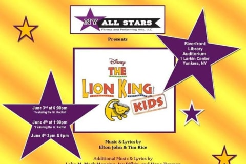 All Stars Fitness, Performing Arts In Yonkers Presents 'The Lion King KIDS'