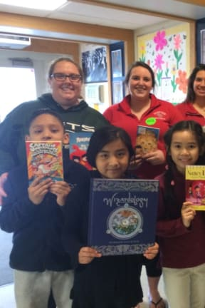Students From Fairfield's SHU Surprise Bridgeport Kids With Books