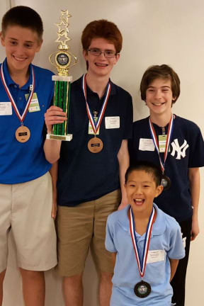 John Jay MS MathCounts Team Places Third In Tournament