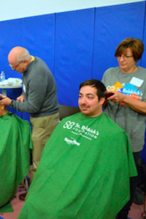 Group Gets Their Head Shaved At Westport YMCA To Support Cancer Research